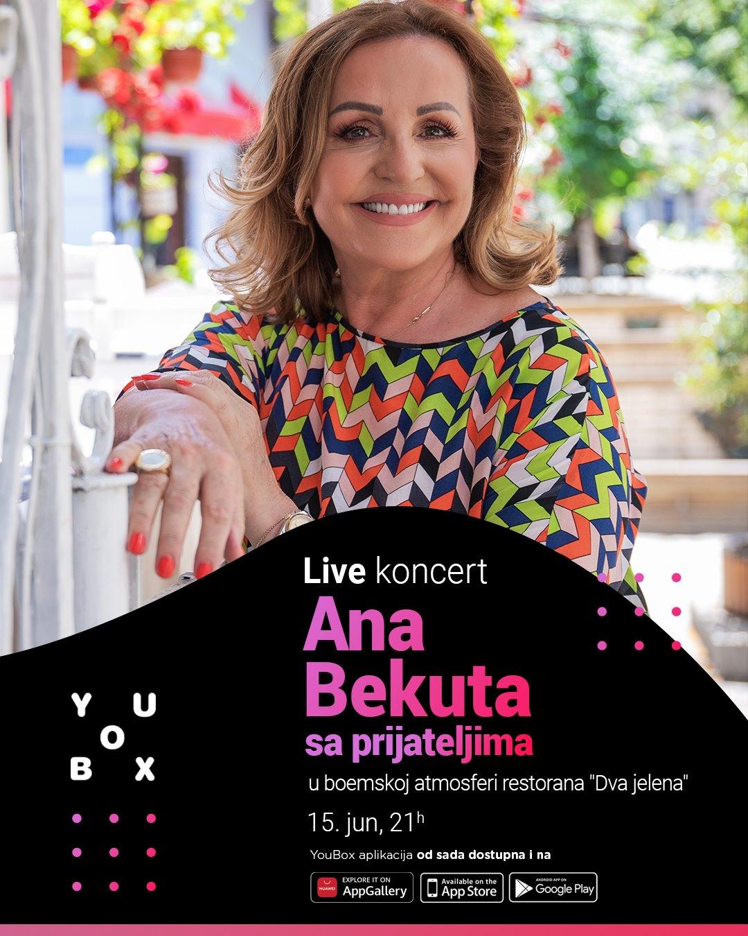 YouBox live koncert Ane Bekute