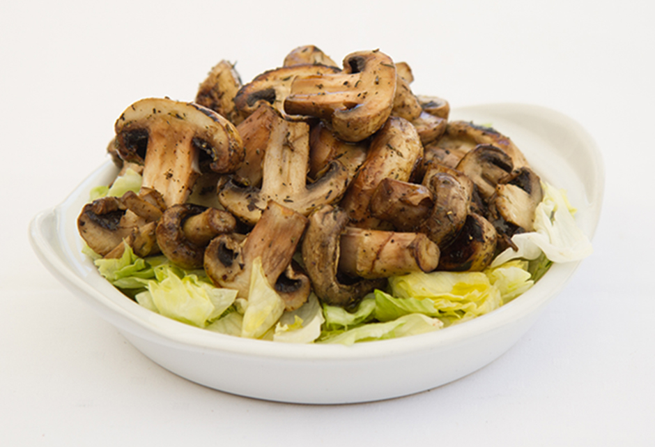 Stirred fried Champignons