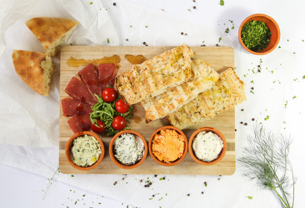 Selection of cream cheese